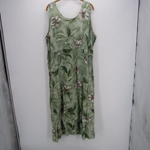 R&K Floral Print Sleeveless Pleated Maxi Dress
